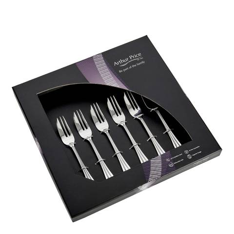 Arthur Price 6 Piece Royal Pearl Pastry Forks Box Set