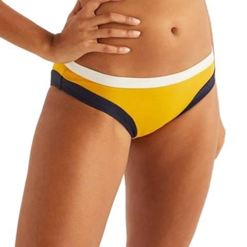 Boden Yellow Colourblock Santorini Bikini Bottoms