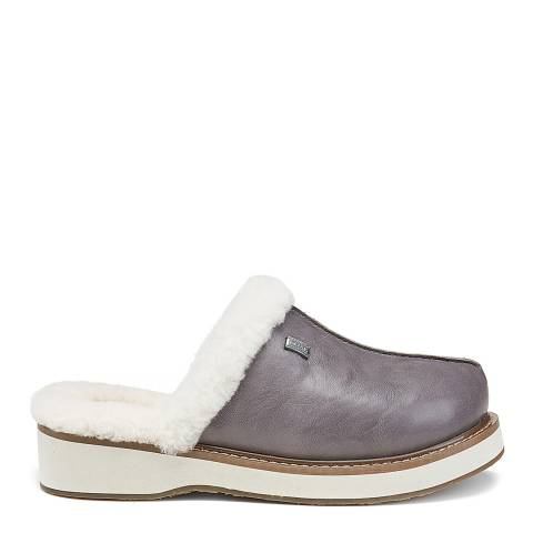Australia Luxe Collective Grey Leather Supper Slippers
