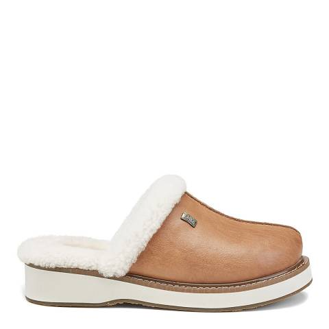 Australia Luxe Collective Chestnut Leather Supper Slippers