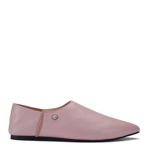 Australia Luxe Collective Pink Buff Leather Kuta Slippers