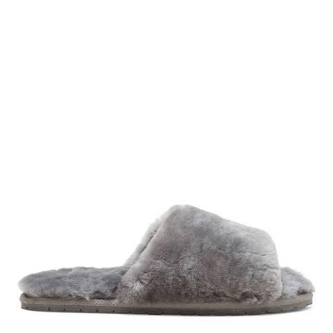N°· Eleven Grey Shearling Slides