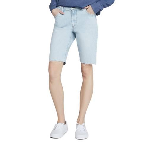 J Brand Blue Relaxed Bermuda Stretch Shorts
