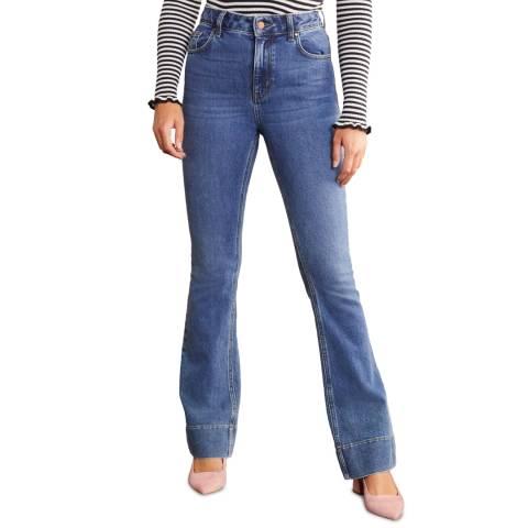 Boden Mid Vinatage Blue Flared Jeans