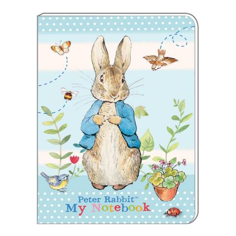 Peter Rabbit Pastel Stripes A5 Soft Cover Note Book
