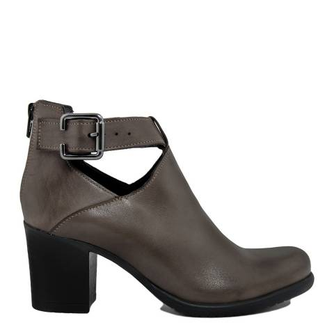 Bluetag Brown Leather Laura Ankle Boots