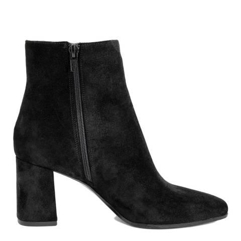 Bluetag Black Suede Ankle Boots