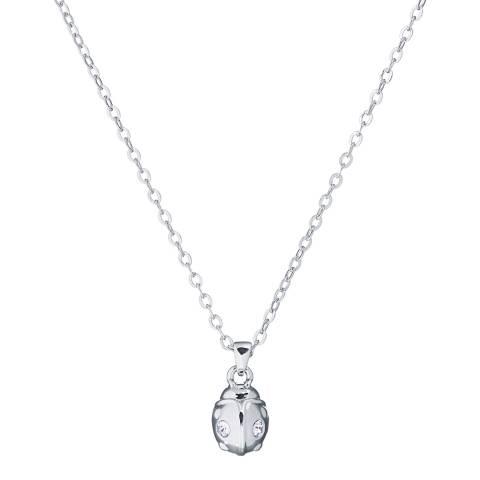 Ted Baker Imitation Rhodium Crystal Ladybird Pendant Necklace