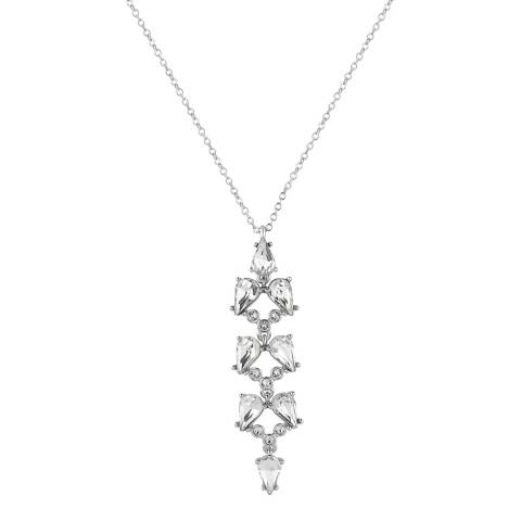Ted Baker Silver Tone Marta Mayfair Crystal Pendant Necklace
