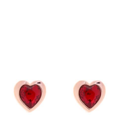 Ted Baker Rose Gold Han Crystal Heart Earrings