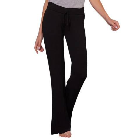 Tart Collections Black Wide Band Drawstring Pant