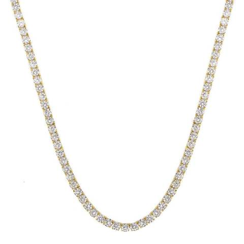 Liv Oliver 18K Gold Plated Cz Tennis Mask Chain Chain/Necklace