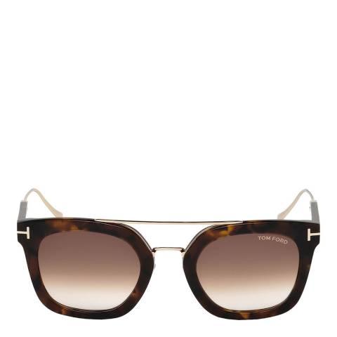 Tom Ford Unisex Havana/Brown Tom Ford Sunglasses 51mm