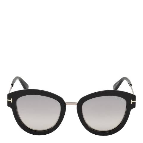 Tom Ford Women's Black And Silver/Smoke Tom Ford Sunglasses 52mm