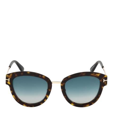 Tom Ford Women's Dark Havana/Green Tom Ford Sunglasses 52mm