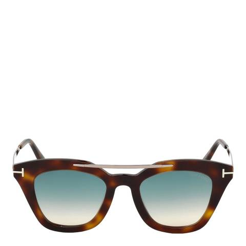 Tom Ford Women's Havana/Blue Tom Ford Sunglasses 49mm