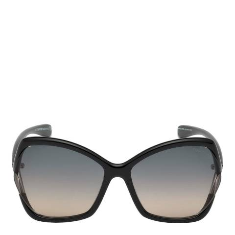 Tom Ford Women's Shiny Black/Grey Smoke Tom Ford Sunglasses 61mm