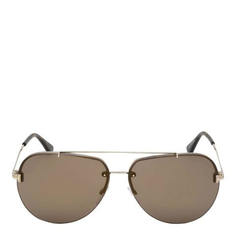 Tom Ford Unisex Gold/Brown Tom Ford Sunglasses 63mm