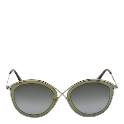 Tom Ford Women's Green/Grey Shaded Tom Ford Sunglasses 55mm