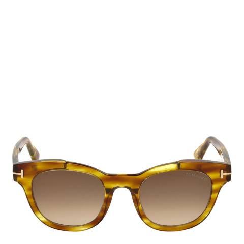 Tom Ford Women's Yellow Havana/Brown Tom Ford Sunglasses 49mm