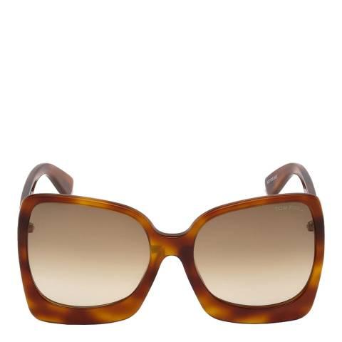 Tom Ford Women's Blonde Havana/Brown Tom Ford Sunglasses 60mm