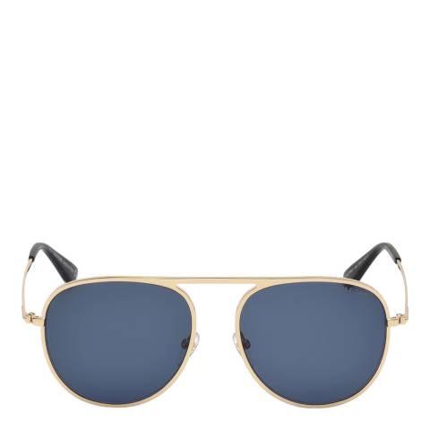 Tom Ford Women's Shiny Rose Gold/Blue Tom Ford Sunglasses 59mm