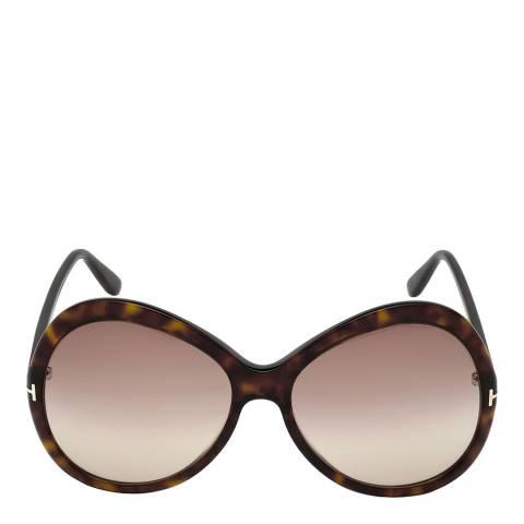 Tom Ford Women's Dark Havana/Brown Tom Ford Sunglasses 63mm