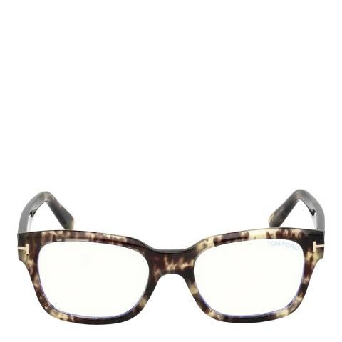 Tom Ford Unisex Light Havana Tom Ford Glasses 52mm