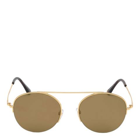 Tom Ford Unisex Brown/Gold Tom Ford Sunglasses 54mm