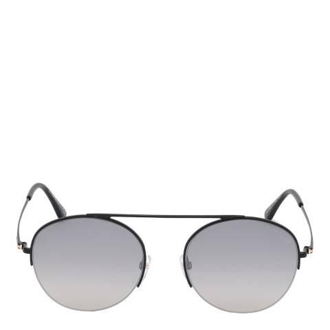 Tom Ford Unisex Shiny Black/Smoke Tom Ford Sunglasses 54mm