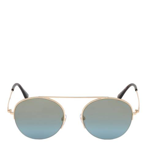Tom Ford Unisex Rose Gold/Blue Tom Ford Sunglasses 54mm