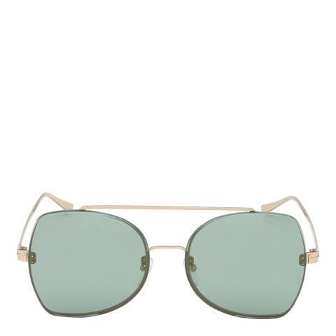Tom Ford Women's Rose Gold/Green Tom Ford Glasses 58mm