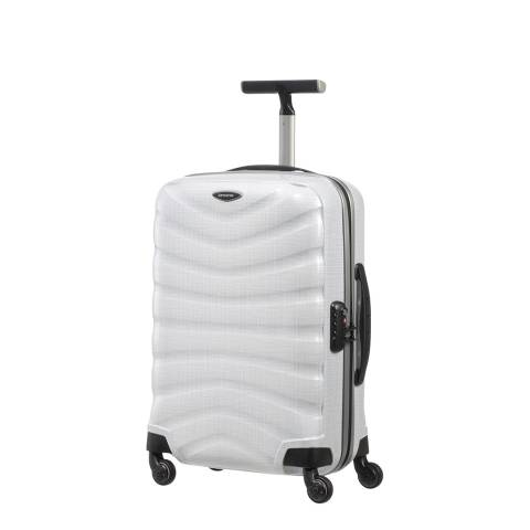 Samsonite Diamond White Firelite Spinner Suitcase 55cm