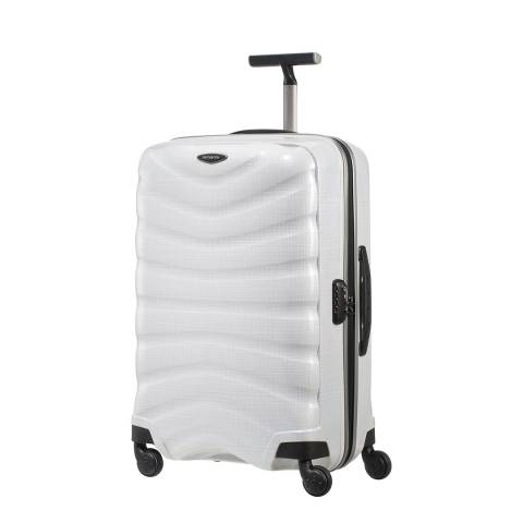 Samsonite Diamond White Firelite Spinner Suitcase 69cm