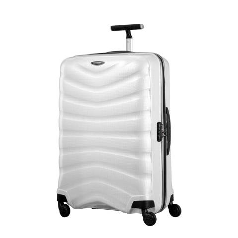 Samsonite Diamond White Firelite Spinner Suitcase 75cm