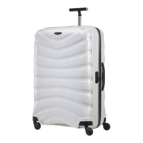 Samsonite Diamond White Firelite Spinner Suitcase 81cm