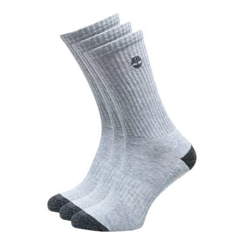 Timberland Grey 3 Pack Core Crew Socks