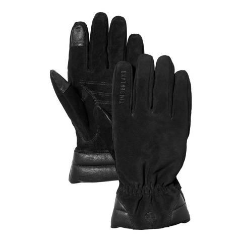 Timberland Black Nubuck Leather Boot Gloves