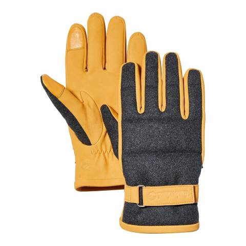 Timberland Wheat Solid Wool Back Gloves