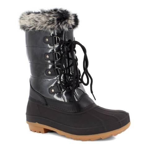 Kimberfeel Black Lorelei Snow Boots
