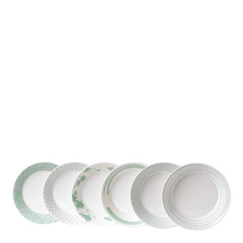 Royal Doulton Set of 6 Pacific Mint Pasta Bowls, 23cm