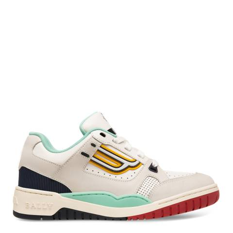 BALLY Blue/White Kuba Leather Sneakers