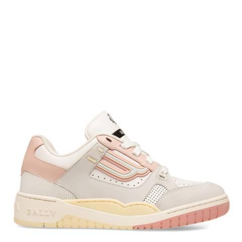 BALLY White Kuba Leather Sneakers