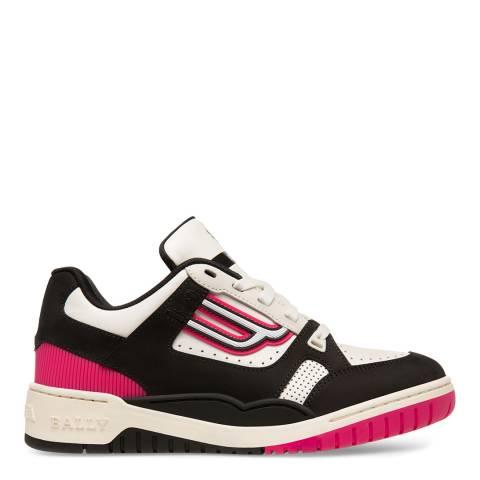 BALLY White/Black Kuba Leather Sneakers