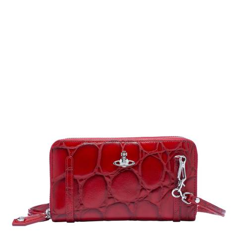 Vivienne Westwood Red Dora Double Zip Round Crossbody
