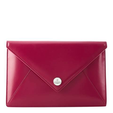 Vivienne Westwood Pink Conduit Envelope Pouch
