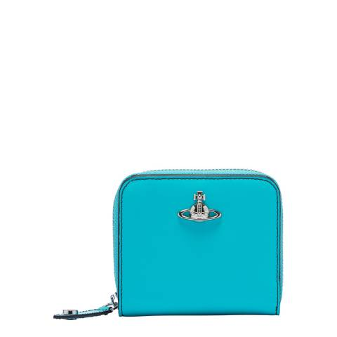 Vivienne Westwood Light Blue Alex Medium Zip Wallet