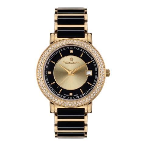 Mathieu Legrand Women's Black/Gold Ciel d´Etoiles Watch