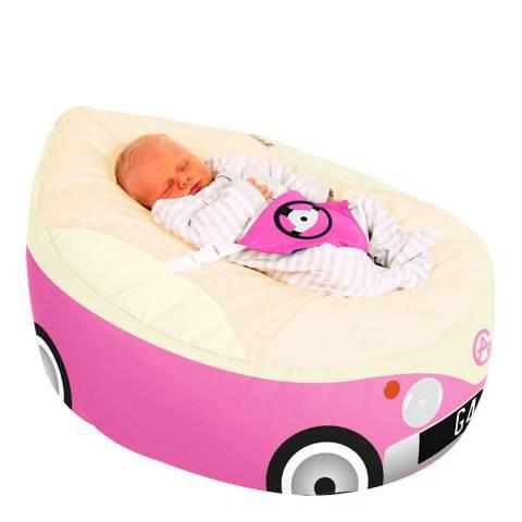 Gaga Baby Campervan Baby Beanbag, Cerise Pink