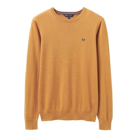 Crew Clothing Beige Cotton Crew Neck